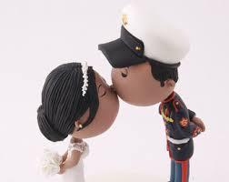 wedding cake topper marine etsy