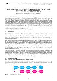 Sample Partnership Proposal Analysing Sample Production Processes In The Apparel Industry And