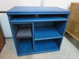 Blue Computer Desk by Stella U0027s Vintage Finds