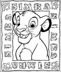 disney lion king coloring pages print color zini