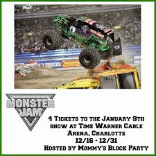 monster jam truck tickets mommy u0027s block party monster jam charlotte nc tickets giveaway