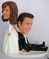 custom wedding cake toppers bobblehead cake toppers headbobble