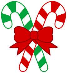 christmas and holiday wall decor decal candy canes