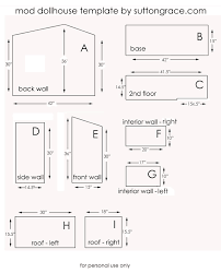 Free Printable House Blueprints Doll House Plans Somebody Will Need This Someday Making A