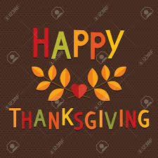 happy thanksgiving day card or menu template in vintage colors