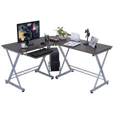 Glass Corner Desk Furniture Corner Desk Small L Shaped Desk Black Corner Desk