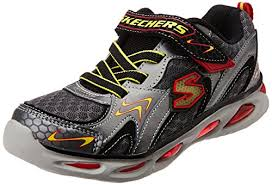 skechers red light up shoes boy s skechers s lights ipox rayz light up sneaker grey red 11 m