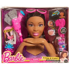 Barbie Style Doll Reviews And by Barbie Crimp And Color Styling Head African American Walmart Com