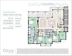 Key West Floor Plans by Floorplans Oceane Siesta Key Waterfront Condos Siesta Key