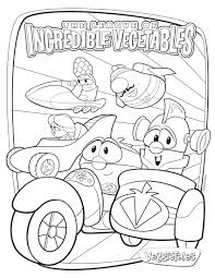 veggie tales coloring pages printable images kids aim