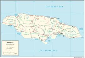 Map Of Texas With Cities Jamaica Maps Perry Castañeda Map Collection Ut Library Online