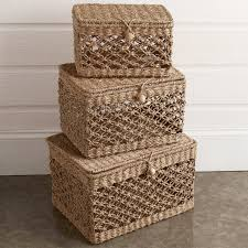 light in the box weave bankuan macrame weave baskets set of 3 shades of light