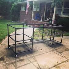 100 Diy Pipe Desk Plans Pipe Table Ideas And Inspiration by Rustic L Shaped Unfinish Wooden Desk With Steel Pipe Table Legs