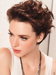 womans short hairstyle for thick brown hair short hairstyles for curly hair and oval face cute short
