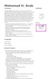 Portfolio Resume Sample by Php Developer Resume Samples Visualcv Resume Samples Database
