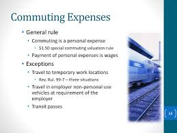 Commuting Is by An Employer U0027s Guide To Paying Fringe Benefits To Employees Ppt