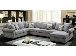 Fabric Sectional Sofas Skyler Transitional Gray Fabric Sectional Sofa Shop For