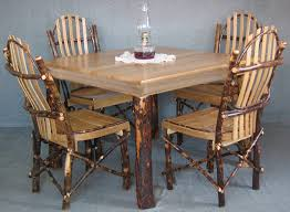 Amish Dining Room Furniture Amish Hickory Dining Table