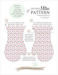 diy felt mitten pattern nanacompany