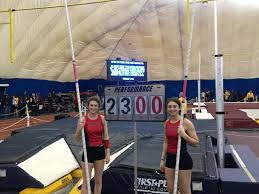 indoor track saifi sisters do it again set pole vault record in