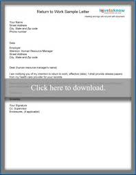 Resumes For Moms Returning To Work Examples by Examples Of A Return To Work Letter