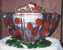 Decorative Ice Rings For Punch Ice Bowl With Fresh Flowers Made These For Many Years Trick To