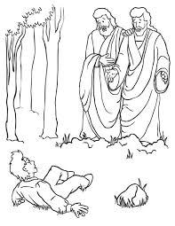 joseph smith met god father jesus christ coloring