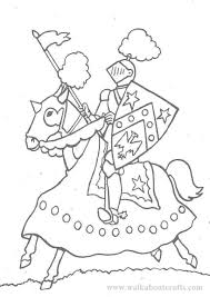 colouring pictures print colour knight horse image