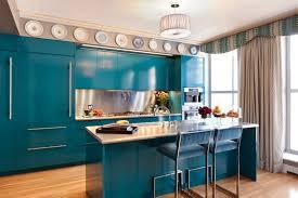 blue cabinets home design ideas