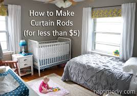 Diy Cheap Curtains How To Make Curtain Rods For Less Than 5 Each Naptime Diy For