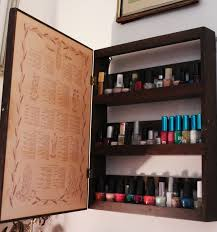 Cabinet Polish Thrift Trick Nail Polish Cabinet Diy And Dressing Room Makeover
