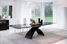 esstisch design moderne esstisch ausziehbar design mit schwarz glas tischplatte