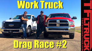 Ford F250 Truck Gas Mileage - ford f250 vs ram 2500 gas v8 work truck drag race 2 youtube