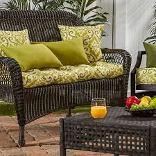 greendale home fashions outdoor porch swing or bench cushion short