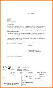 8 pledge reminder letter template accept rejection