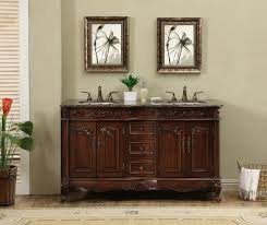 stufurhome 60 inch saturn double sink vanity with baltic brown