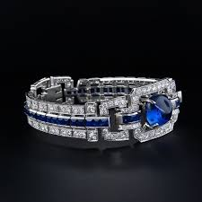 bracelet diamond sapphire images Magnificent art deco sapphire and diamond bracelet for sale at 1stdibs jpg