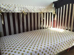 Gold Crib Bedding by White Gold Polka Dot Baby Bedding Nursery Bedding Toddler