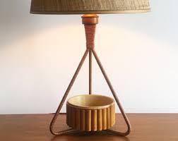 Bamboo Desk Lamp Rattan Lamp Etsy