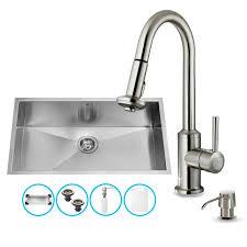Vigo Kitchen Sink Faucet Vg15071 In Stainless Steel By Vigo