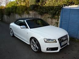 white audi a5 convertible used audi a5 s line white cars for sale motors co uk