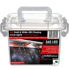 red and white led outdoor christmas lights werchristmas 360 led snowing icicle lights string chasing static