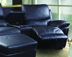 home theater sectional sofa leatherette home theater sectional w motorized recliners