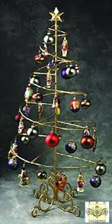 metal spiral ornament trees a way to display a collection of