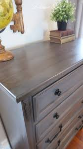 Staining Bedroom Furniture For This Finished I Used Rust Oleum Weathered Gray Stain For The