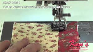 how to use the janome acufeed ditch quilting foot 9mm youtube
