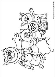 yo gabba gabba coloring pages free printable yo gabba gabba