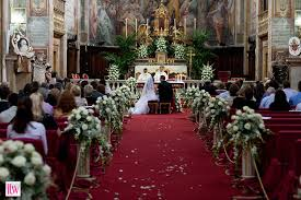 wedding church decorations church wedding decorations on pew and