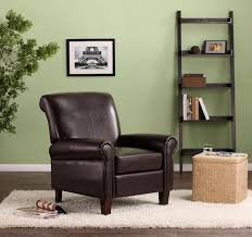 Leather Club Chair Dorel Living Faux Leather Club Chair Brown