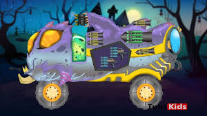 scary monster truck halloween videos kids monster trucks